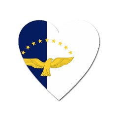 Flag Of Azores Heart Magnet by abbeyz71