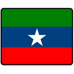 Flag Of Ogaden National Liberation Front Fleece Blanket (medium)