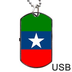 Flag Of Ogaden National Liberation Front Dog Tag Usb Flash (two Sides)