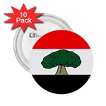 Flag of Oromia Region 2.25  Buttons (10 pack)  Front
