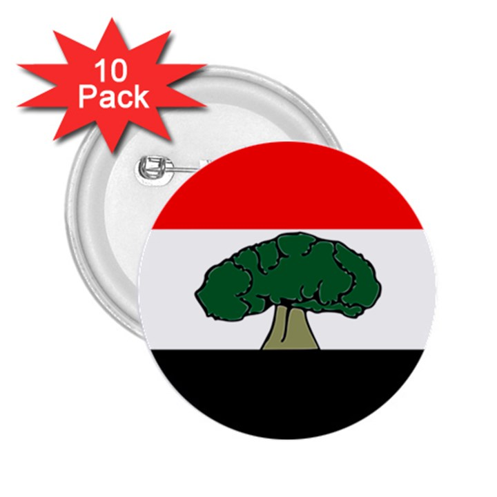Flag of Oromia Region 2.25  Buttons (10 pack)