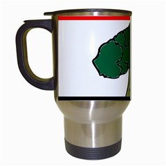 Flag Of Oromia Region Travel Mugs (white) by abbeyz71