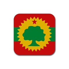 Flag Of Oromo Liberation Front Rubber Coaster (square)  by abbeyz71