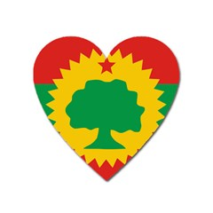 Flag Of Oromo Liberation Front Heart Magnet by abbeyz71