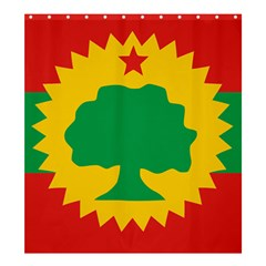 Flag Of Oromo Liberation Front Shower Curtain 66  X 72  (large)  by abbeyz71