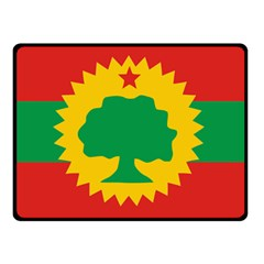 Flag Of Oromo Liberation Front Double Sided Fleece Blanket (small)