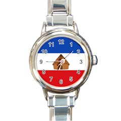 Flag Of Southern Nations, Nationalities, And Peoples  Region Of Ethiopia Round Italian Charm Watch by abbeyz71