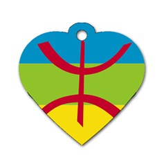 Berber Ethnic Flag Dog Tag Heart (one Side)