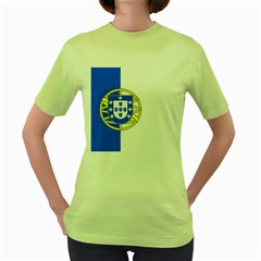 Proposed Flag Of Portugalicia Women s Green T Shirt