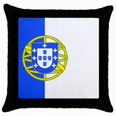 Proposed Flag Of Portugalicia Throw Pillow Case (black)