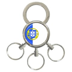 Proposed Flag Of Portugalicia 3 Ring Key Chains