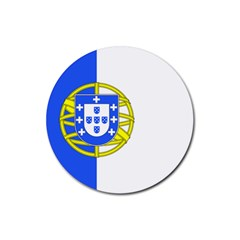 Proposed Flag Of Portugalicia Rubber Round Coaster (4 Pack)