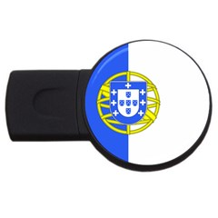 Proposed Flag Of Portugalicia Usb Flash Drive Round (2 Gb)