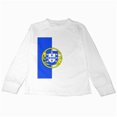 Proposed Flag Of Portugalicia Kids Long Sleeve T Shirts