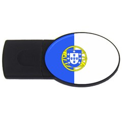 Proposed Flag Of Portugalicia Usb Flash Drive Oval (4 Gb)