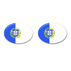 Proposed Flag Of Portugalicia Cufflinks (oval)