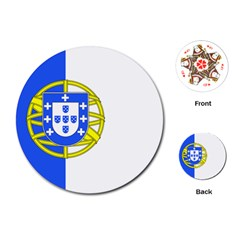 Proposed Flag Of Portugalicia Playing Cards (round)