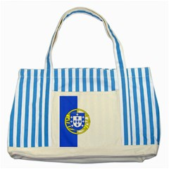 Proposed Flag Of Portugalicia Striped Blue Tote Bag