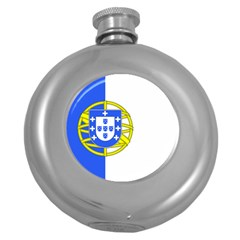 Proposed Flag Of Portugalicia Round Hip Flask (5 Oz)