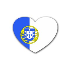 Proposed Flag Of Portugalicia Rubber Coaster (heart)  by abbeyz71