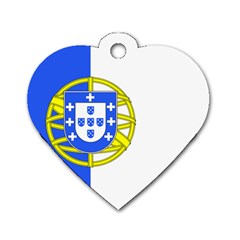 Proposed Flag Of Portugalicia Dog Tag Heart (two Sides)