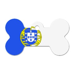 Proposed Flag Of Portugalicia Dog Tag Bone (two Sides)