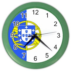 Proposed Flag Of Portugalicia Color Wall Clock