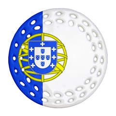 Proposed Flag Of Portugalicia Ornament (round Filigree)