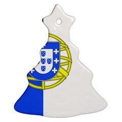 Proposed Flag Of Portugalicia Christmas Tree Ornament (two Sides)