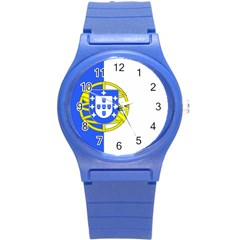 Proposed Flag Of Portugalicia Round Plastic Sport Watch (s)