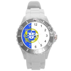 Proposed Flag Of Portugalicia Round Plastic Sport Watch (l)