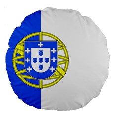 Proposed Flag Of Portugalicia Large 18  Premium Round Cushions