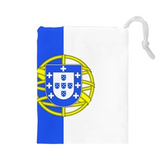 Proposed Flag Of Portugalicia Drawstring Pouch (large)