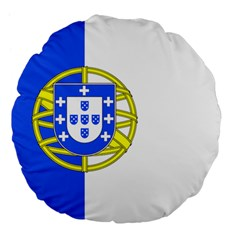 Proposed Flag Of Portugalicia Large 18  Premium Flano Round Cushions
