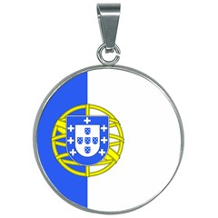Proposed Flag Of Portugalicia 30mm Round Necklace