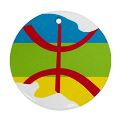 Kabylie Flag Map Ornament (round)