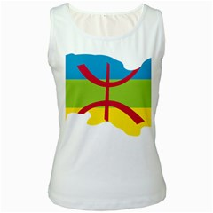 Kabylie Flag Map Women s White Tank Top
