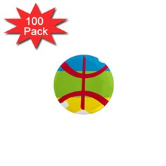 Kabylie Flag Map 1  Mini Magnets (100 Pack)