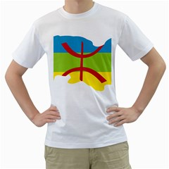 Kabylie Flag Map Men s T Shirt (white) (two Sided)