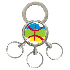 Kabylie Flag Map 3 Ring Key Chains