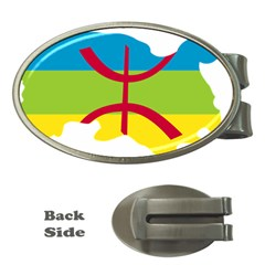 Kabylie Flag Map Money Clips (oval)