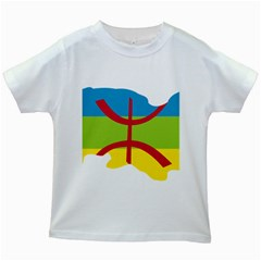 Kabylie Flag Map Kids White T Shirts