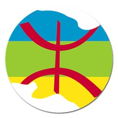 Kabylie Flag Map Magnet 5  (round)
