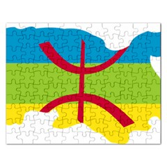 Kabylie Flag Map Rectangular Jigsaw Puzzl