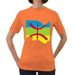 Kabylie Flag Map Women s Dark T Shirt