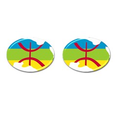 Kabylie Flag Map Cufflinks (oval)
