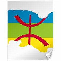 Kabylie Flag Map Canvas 12  X 16