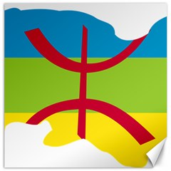Kabylie Flag Map Canvas 16  X 16