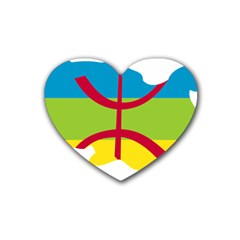Kabylie Flag Map Heart Coaster (4 Pack)