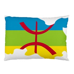 Kabylie Flag Map Pillow Case
